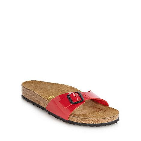 Birkenstock - Red +Madrid+ flat buckled sandals