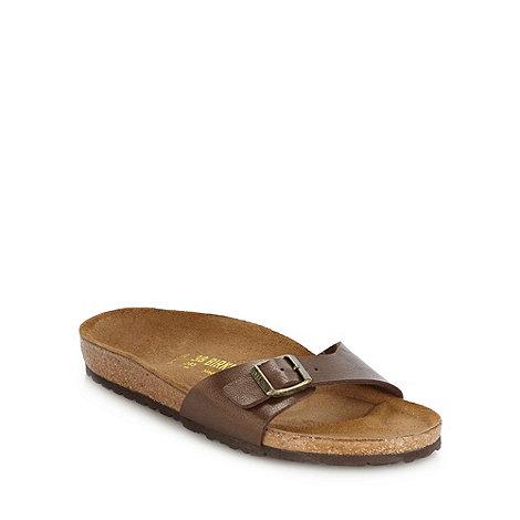 Birkenstock - Brown +Madrid+ flat buckled sandals