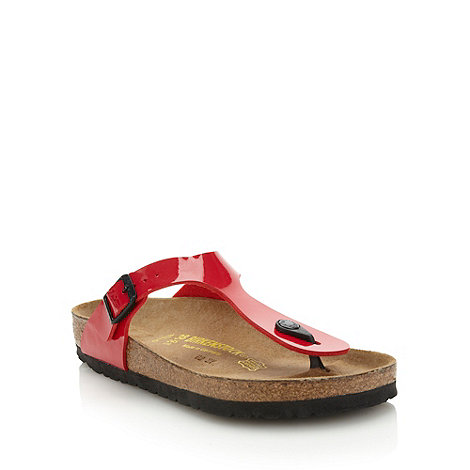 Birkenstock - Red +Gizeh+ flat t-bar sandals