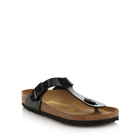 Birkenstock - Black patent +Gizeh+ sandals
