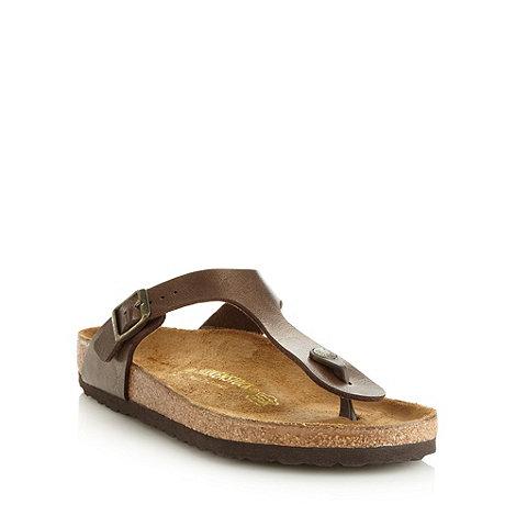 Birkenstock - Brown +Gizeh+ flip flops