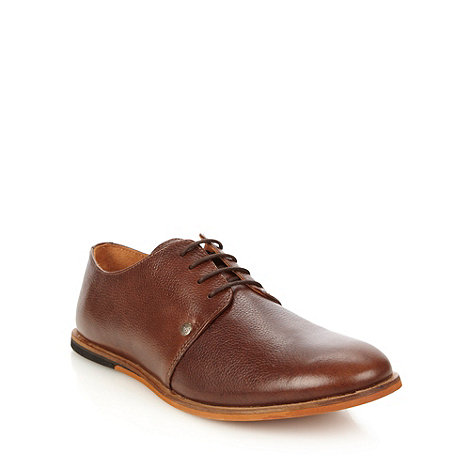 Frank Wright - Brown leather four eyelet shoes