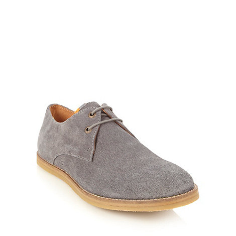 Frank Wright - Grey suede lace up shoes
