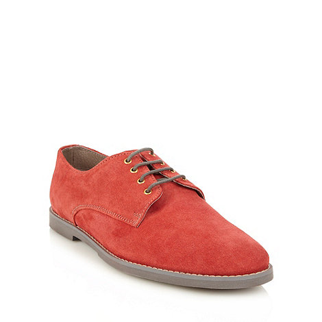 Frank Wright - Red suede lace up shoes