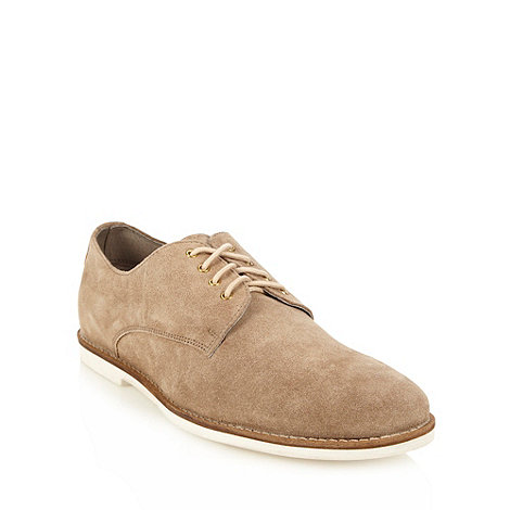 Frank Wright - Beige suede lace up shoes