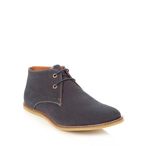 Frank Wright - Navy canvas chukka boots