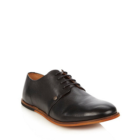 Frank Wright - Black leather four eyelet shoes