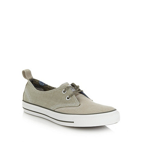 Converse - Olive chambray denim trainers