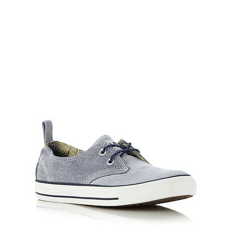Converse - Blue chambray denim trainers