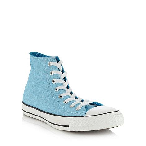 Converse - Converse light blue +All Star+ hi-top trainers