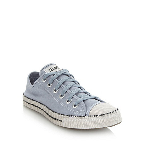 Converse - Converse light blue coated canvas trainers