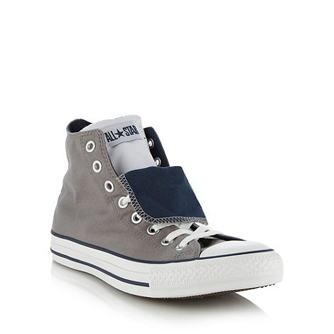 Converse - Converse grey canvas hi-top trainers