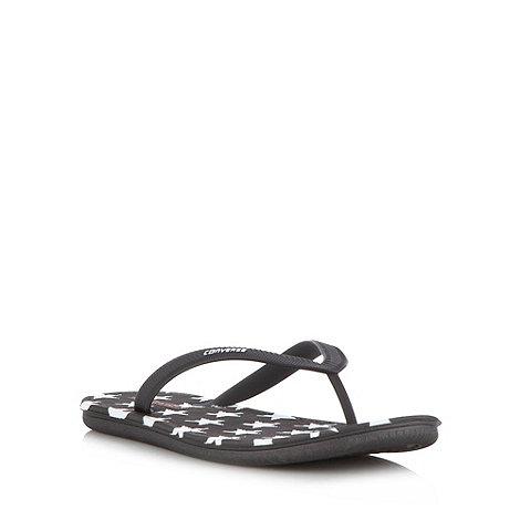 Converse - Black star flip flops