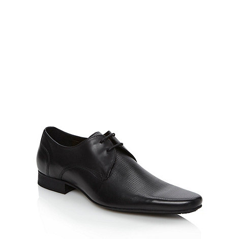 H By Hudson - Black perforated leather shoes