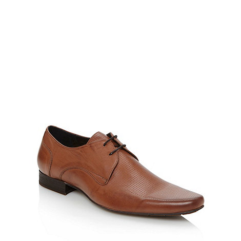 H By Hudson - Tan perforated leather shoes