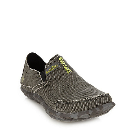 Cushe - Grey frayed edge slip on shoes