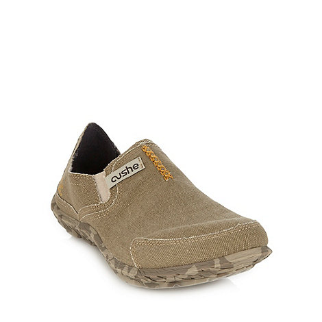 Cushe - Tan canvas slip on shoes