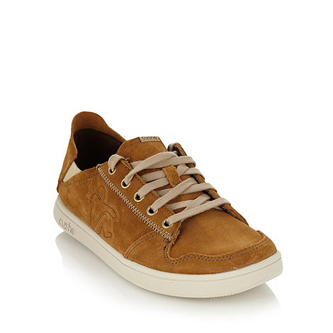 Cushe - Tan suede lace up trainers