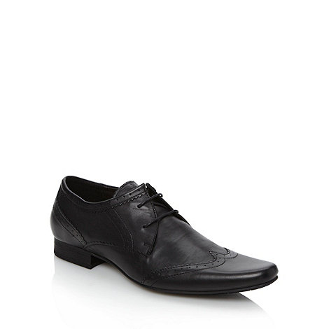 H By Hudson - Black leather two eye brogues