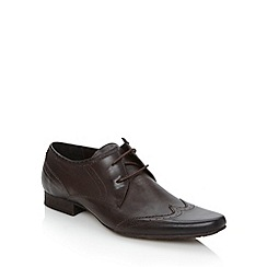 H By Hudson - Brown leather two eye brogues
