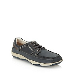 Maine New England - Blue leather boat shoes