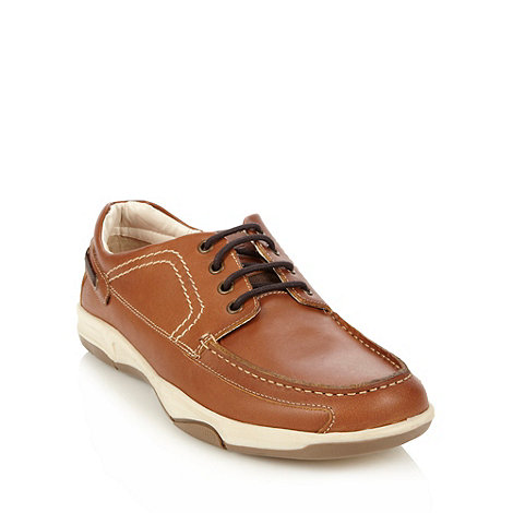 Maine New England - Tan leather boat shoes