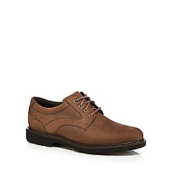 Rockport - Light brown leather 'Plainfield Pine' lace up shoes