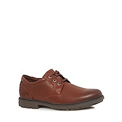 Rockport - Brown leather 'Marshall' slip-on shoes