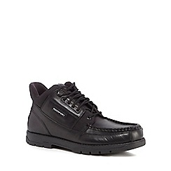 Rockport - Black leather 'Treeline' lace up boots