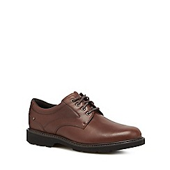 Rockport - Brown leather 'Plainfield Pine' lace up shoes