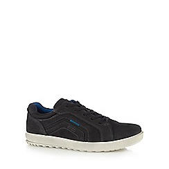 ECCO - Black 'Ennio' leather lace up trainers