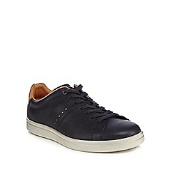 ECCO - Navy leather 'Kallum' trainers