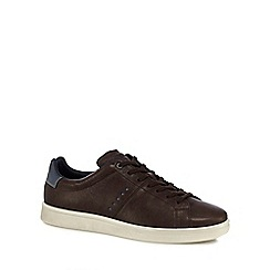 ECCO - Brown leather 'Kallum' trainers