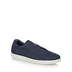 ECCO - Navy leather 'Soft 1' trainers