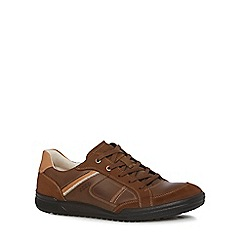 ECCO - Brown leather 'Fraser' trainers