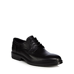 ECCO - Black leather 'Lisbon' Derby shoes