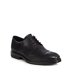 ECCO - Black leather 'Lisbon' brogues