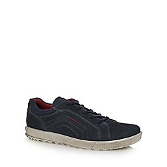 ECCO - Navy 'Ennio' lace up trainers