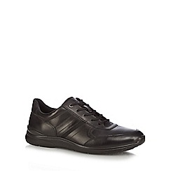 ECCO - Black leather 'Irving' trainers