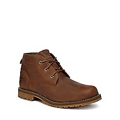Timberland - Brown leather 'Larchmont' lace up boots