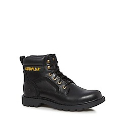 Caterpillar - Black leather 'Stickshift' lace-up boots