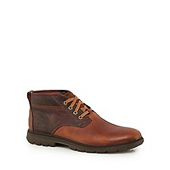 Caterpillar - Brown leather 'Trenton' chukka boots