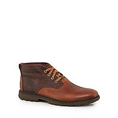 Caterpillar - Brown leather 'Trenton' chukka boots