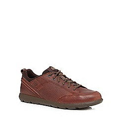 Caterpillar - Brown leather 'Beckett' lace up shoes