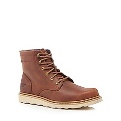 Caterpillar - Tan leather 'Cronical' lace up boots