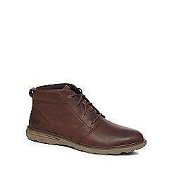 Caterpillar - Brown leather 'Trey' chukka boots