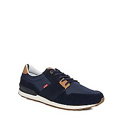 Levi's - Navy 'NY Runner' lace up trainers