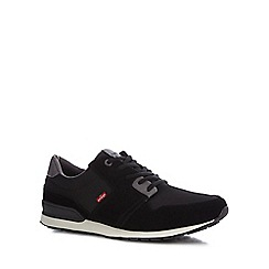 Levi's - Black 'NY Runner' lace up trainers