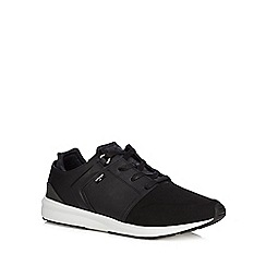 Levi's - Black 'Tab Runner' lace up trainers