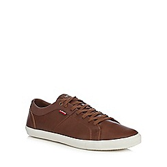 Levi's - Tan lace up trainers